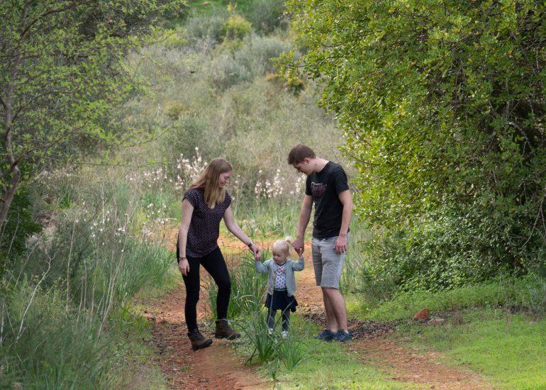 gezin buiten