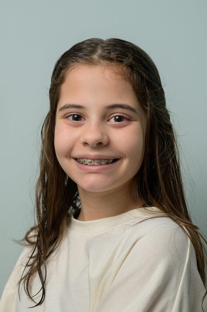 Portret tiener meisje