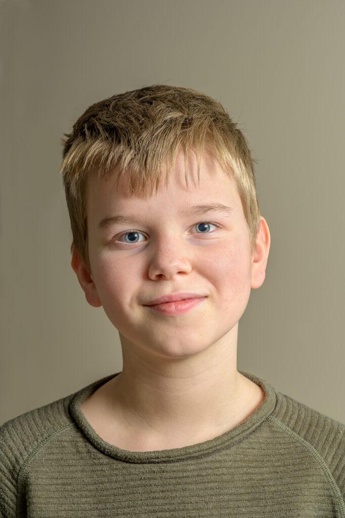 Portret tiener jongen